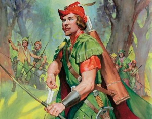 Robin Hood.  Original artwork for Look and Learn (issue yet to be identified).