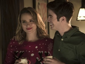 """The Flash -- """"Running to Stand Still"""" -- Image FLA209b_0146b.jpg -- Pictured (L-R): Shantel VanSanten as Patty Spivot and Grant Gustin as Barry Allen -- Photo: Katie Yu/The CW -- © 2015 The CW Network, LLC. All rights reserved."""