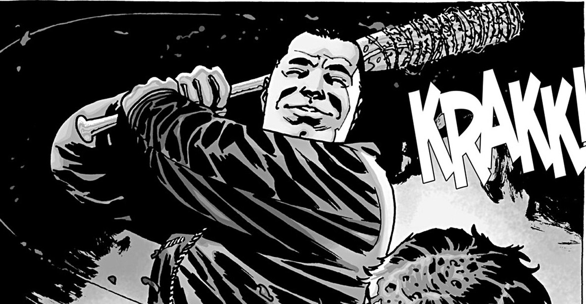 The-Walking-Dead-Negan-in-Comic-with-Lucille