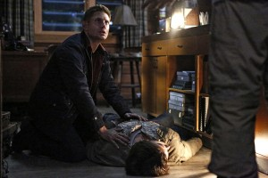 """Supernatural -- """"Red Meat"""" -- Image SN1117a_0138.jpg -- Pictured (L-R): Jensen Ackles as Dean and Jared Padalecki as Sam -- Photo: Bettina Strauss/The CW -- © 2016 The CW Network, LLC. All Rights Reserved"""