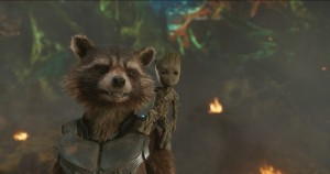 Guardians Of The Galaxy Vol. 2  L to R: Rocket (Voiced by Bradley Cooper) and Groot (Voiced by Vin Diesel)  Ph: Film Frame  ©Marvel Studios 2017