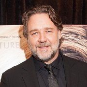 "WASHINGTON, DC - APRIL 07:  Actor/director Russell Crowe attends ""The Water Diviner"" Premiere at Burke Theater at U.S. Navy Memorial on April 7, 2015 in Washington, DC.  (Photo by Leah Puttkammer/Getty Images)"