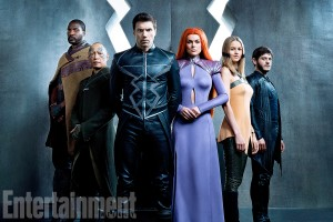 Inhumans Season 1 Gallery 2017 Pictured:  (From Left to Right) Eme Ikwuakor (Gorgon), Ken Leung (Karnak), Anson Mount (Black Bolt), Serinda Swan (Medusa), Isabelle Cornish (Crystal), Iwan Rheon (Maximus)
