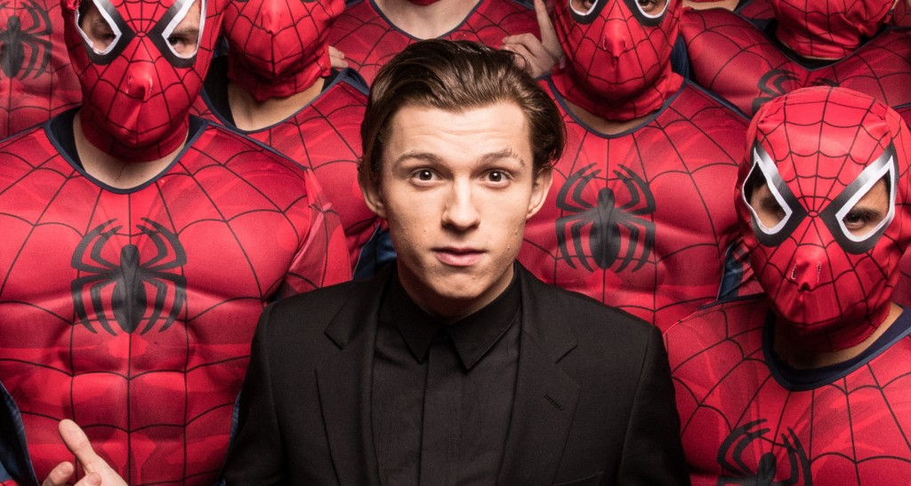 Hollywood, CA - December 8,2016 Tom Holland and an army of Spider-Men invade Hollywood to debut the Columbia Pictures' SPIDER-MAN: HOMECOMING trailer.