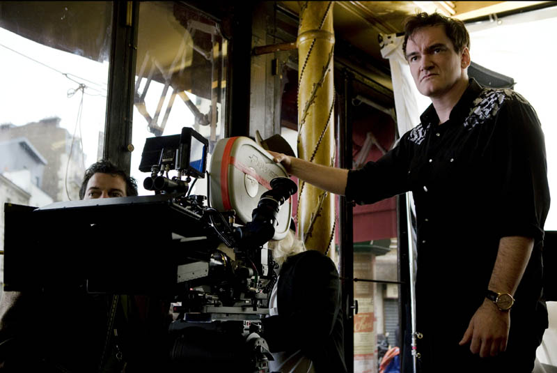 Quentin Tarantino (Director) on the set of INGLOURIOUS BASTERDS.